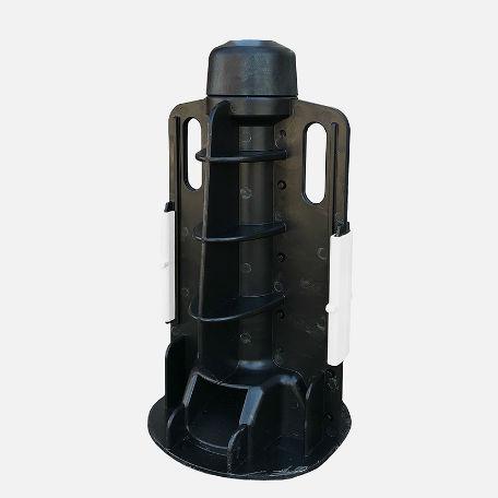 Papperskorgar | Fundament för 60 mm-stolpe i Återvunnen plast