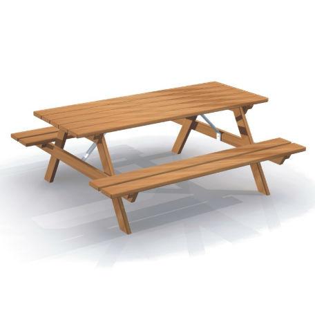 Picknickbord & Parkbord | Bänkbord dubbel original
