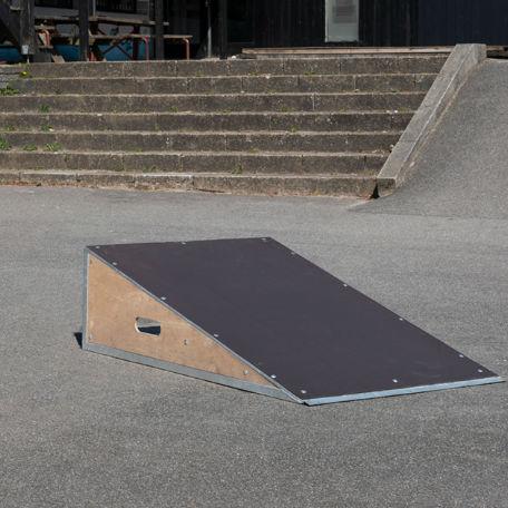 Skateboardramper   Skateramp extra bred