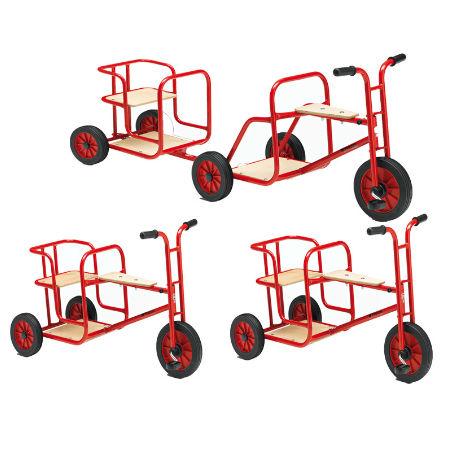 Sandlådor | Cykelset, 3 st Cyklar + Släpkärra