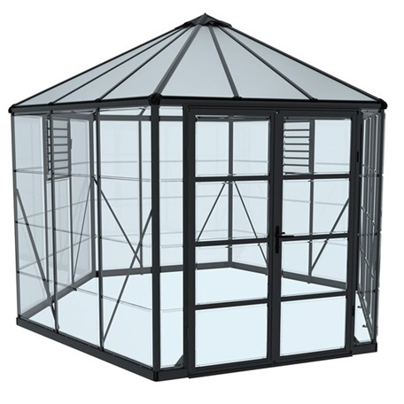 Växthus | Växthus Oasis hexagonal 9 m2
