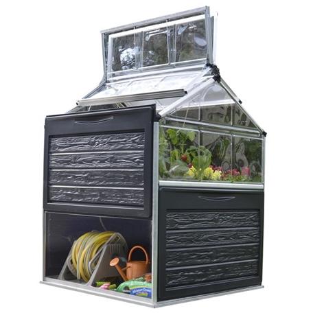 Växthus | Litet växthus med förvaring