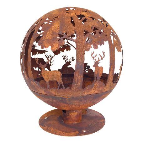Eldstäder | Eldboll mönstrad rost 57,5cm
