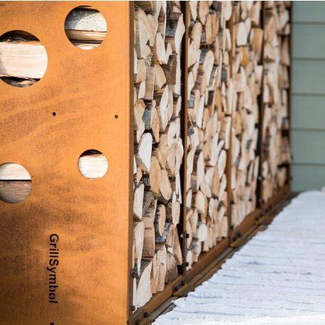 Eldstäder | Vedförvaring WoodStock Wall i Corten
