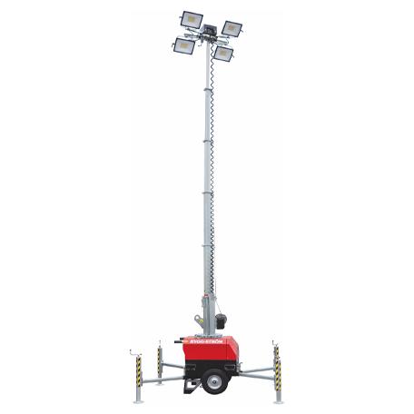Arbetsbelysning | Belysningsmast med Ljussensor, 7 M