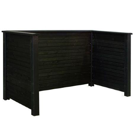 Avfallsskjul   Avfallsskjul Plank Profil i Svart
