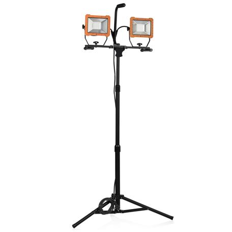 Arbetsbelysning | LED-arbetslampa tripod 2 x 30W