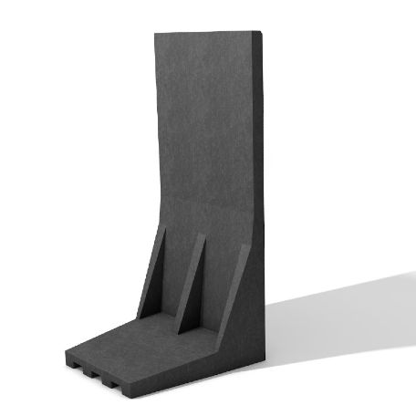 Stödmurar & L & stöd | Underhållsfria L-stöd av återvunnen plast Svart