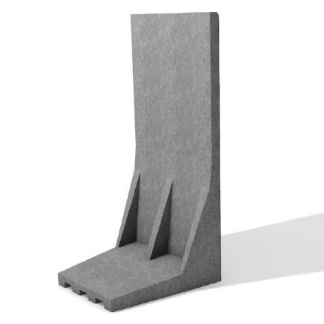 Stödmurar & L & stöd | Underhållsfria L-stöd av återvunnen plast Grå