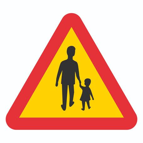 Varningsskyltar | Varning för Gående