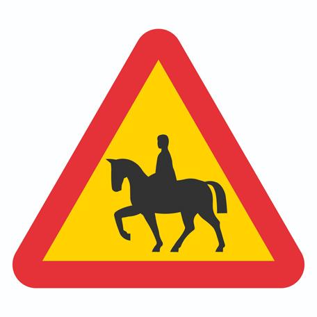 Varningsskyltar | Varning för Ridande