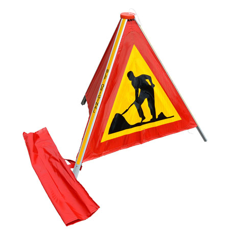 Varningsskyltar | Varningstält för vägarbete med väska