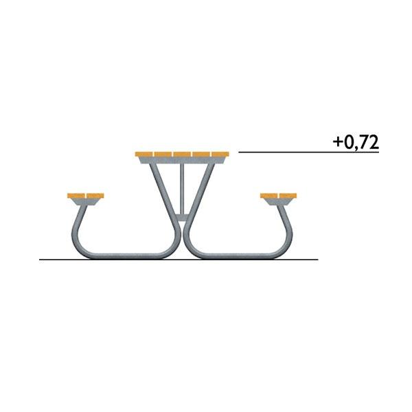 Picknickbord & Parkbord | Bänkbord Olvon Rullstolsanpassad