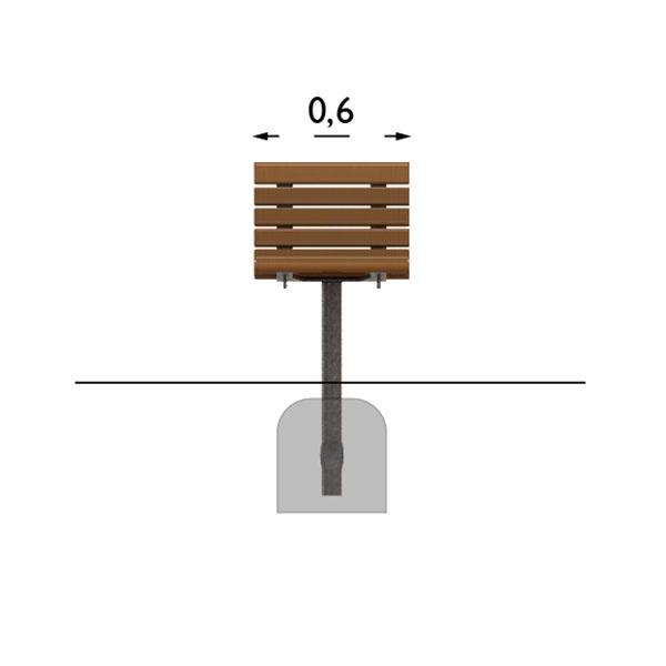 Parkbänkar | Fåtölj Sofiero Barkbrun Galv