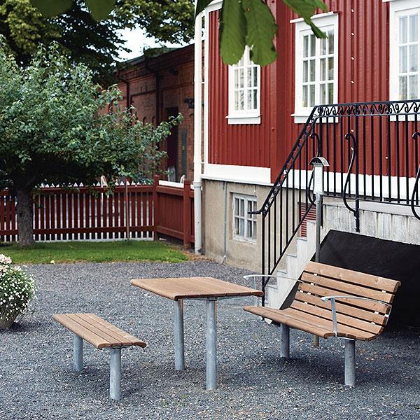 Parkbänkar | Soffa Sofiero Barkbrun Galv