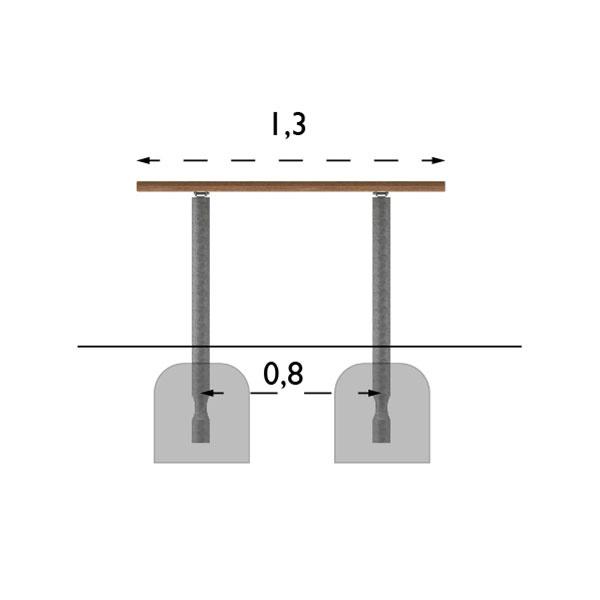 Picknickbord & Parkbord | Parkbord Sofiero Barkbrun-Galv
