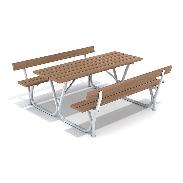 Picknickbord & Parkbord | Bänkbord Ljung med ryggstöd