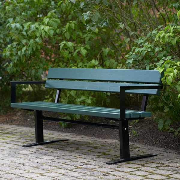 Parkbänkar   Soffa Ekeby Grön-Svart