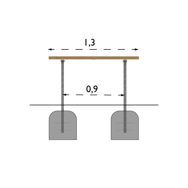Picknickbord & Parkbord | Parkbord Ekeby Barkbrun-Svart