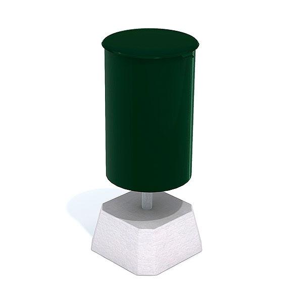 Papperskorgar | Papperskorg Poppel 25L Grön