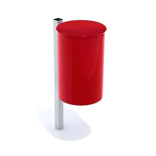 Papperskorgar   Papperskorg Poppel 25L Röd