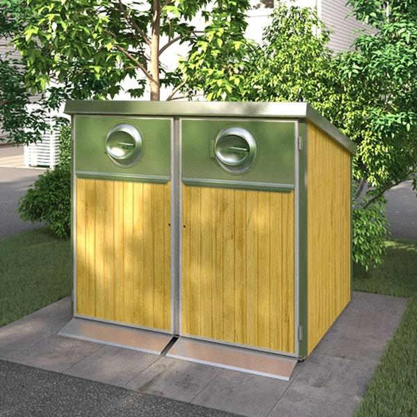 Sopkärl & Kärlskåp | Kärlskåp i trä 2 x 660L