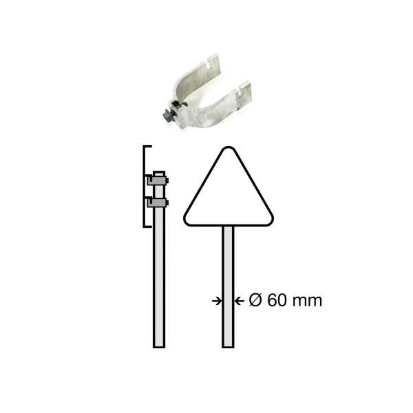 Trafikskyltar | Stolpfäste för kantbockade skyltar (2st per förpackning)