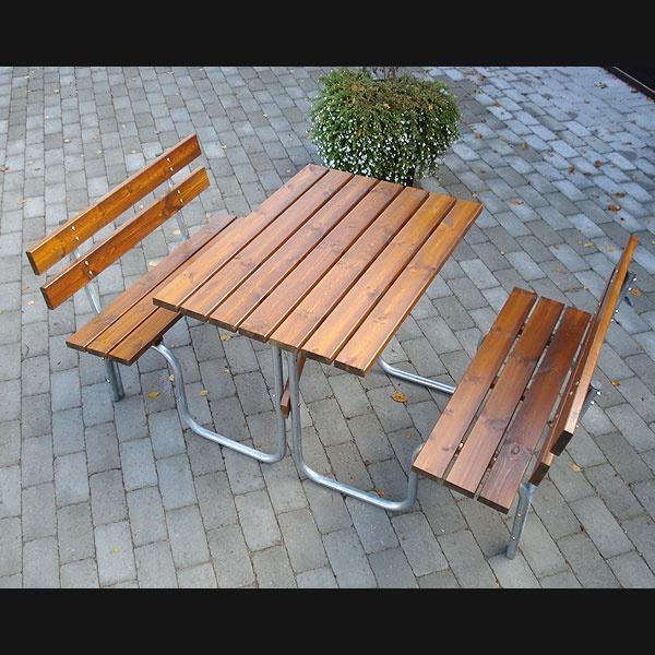 Picknickbord & Parkbord | Steel Picknickbord 100 cm 4 pers Brun