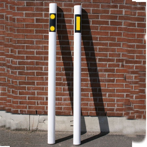 Kantstolpar | Kantstolpe oval gula reflexer på 2 sidor