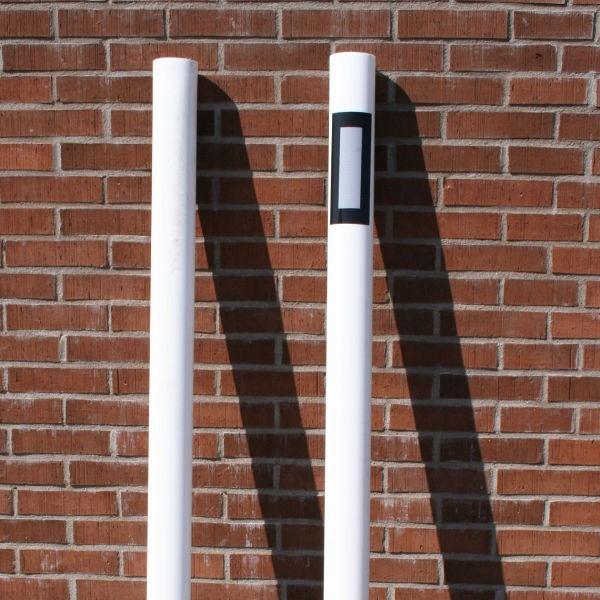 Kantstolpar | Kantstolpe oval vit reflex på 1 sida