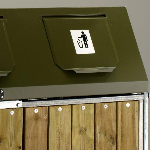 Säckhållare | Säckskåp med inkasttopp, 3 inkast