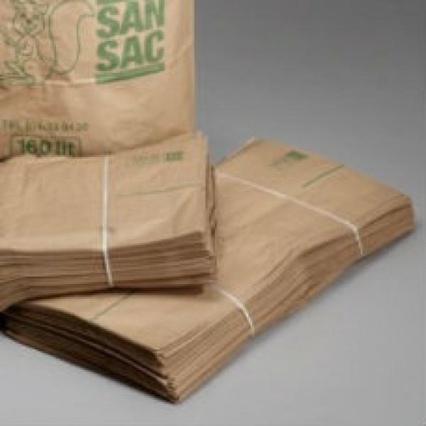 Sopsäckar & Soppåsar | Sopsäckar av våtstarkt kraftpapper enbladig 160L 1500 st