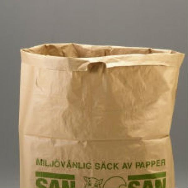 Sopsäckar & Soppåsar | Sopsäckar av våtstarkt kraftpapper tvåbladig 160L 1500 st