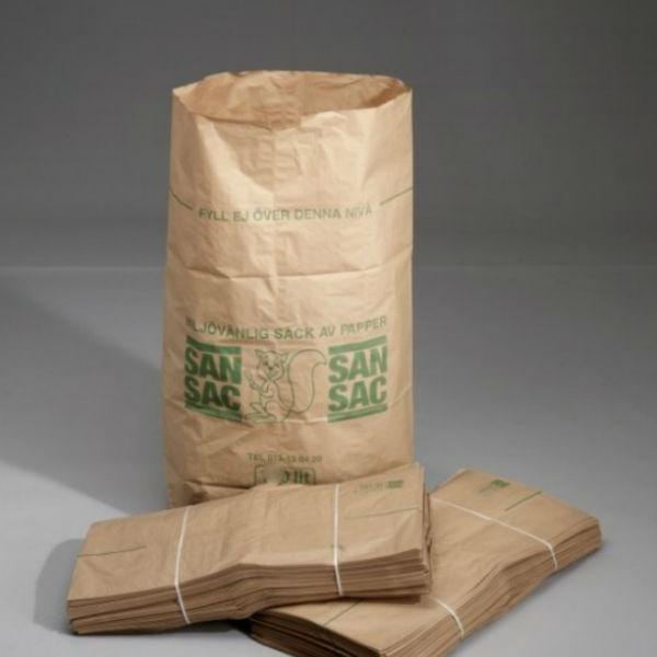 Sopsäckar & Soppåsar | Sopsäckar av våtstarkt kraftpapper enbladig 125L 50 st