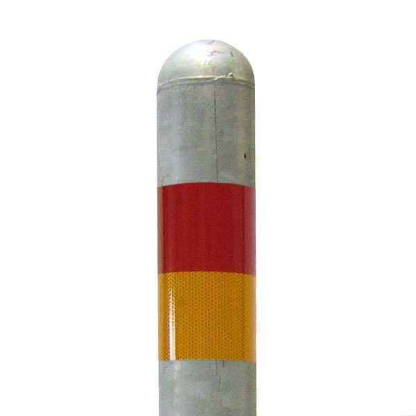Pollare | Reflex för Trafikpollare Varmförzinkad, låsbar