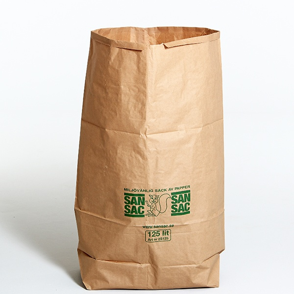 Sopsäckar & Soppåsar | 50 st sopsäckar 125L tillverkade av våtstarkt kraftpapper