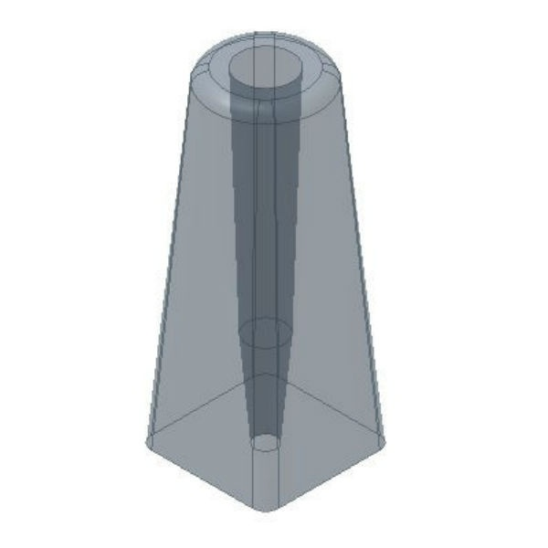 Trafikskyltar   Fundament för Stolprör 60 mm svart 30kg