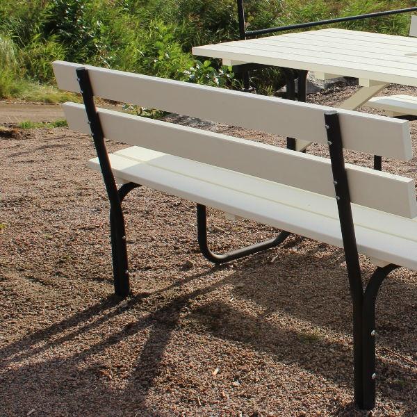 Picknickbord & Parkbord | Steel Picknickbord 150 cm 6 pers Vit