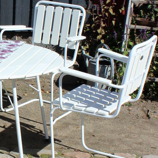 Café & Trädgårdsmöbler | Wilma Grupp 100 cm Vit