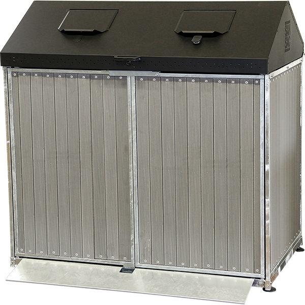 Avfallsskåp | Matavfallsskåp Taberg 2x240 liter
