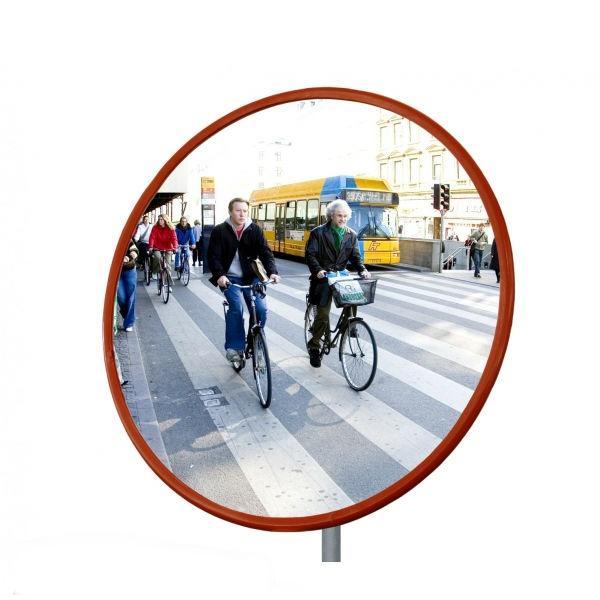 Trafikspeglar   Rund trafikspegel 50 cm i polykarbonat (vandalresistent)
