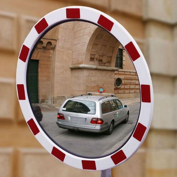 Trafikspeglar | Rund trafikspegel 60 cm i akryl med reflexer