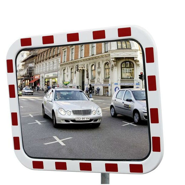 Trafikspeglar | Fyrkanting trafikspegel 40 x 60 cm i akryl med reflexer