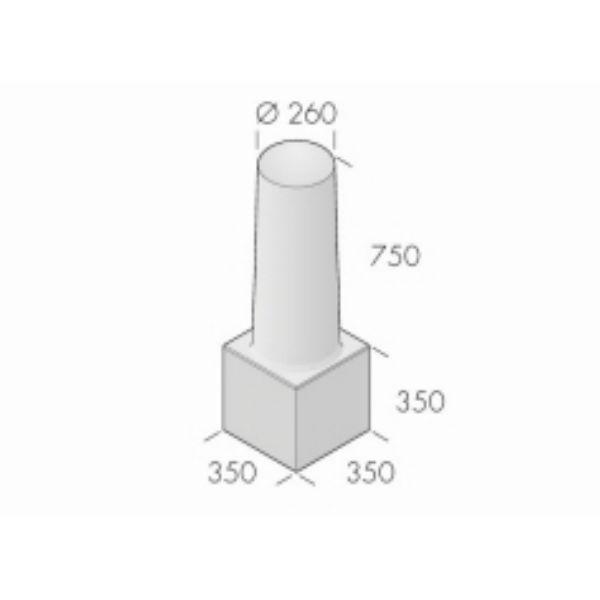 Pollare | Betongpollare Balder 260x750