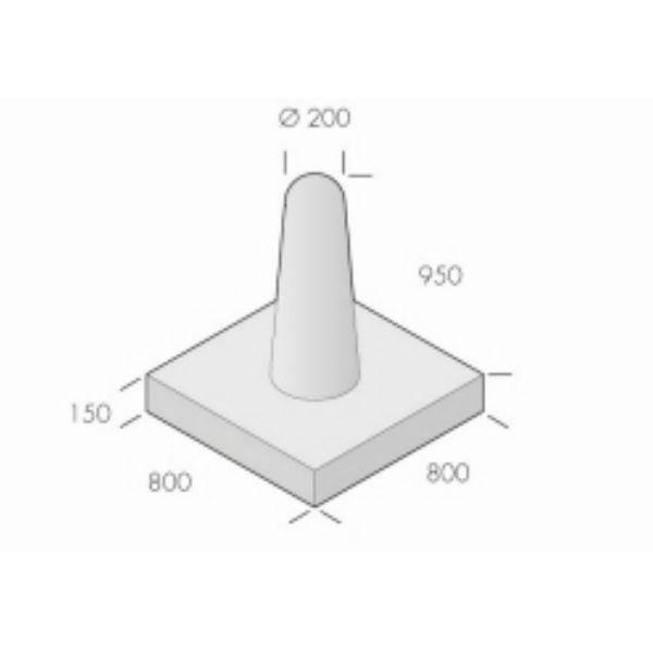 Pollare | Betongpollare Frigg 200-300x950