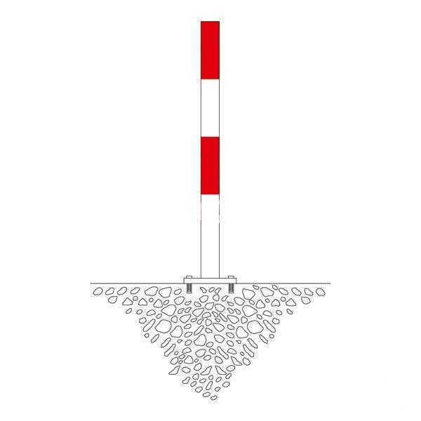 Bommar & Avspärrning | Avspärrningsstolpe Morion 76mm