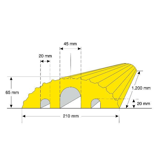 Kabelbryggor | Kabelbrygga Gul 1200mm