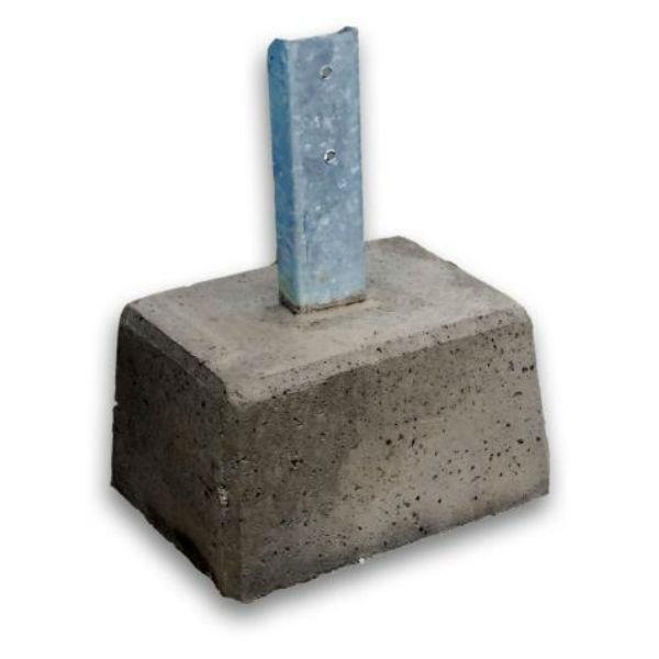 Parkeringsräcken | Parkeringsräcke fristående med betongfot