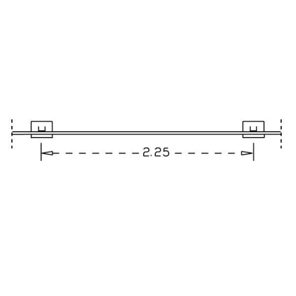 Parkeringsräcken | Parkeringsräcke för platsgjutning 45x143mm