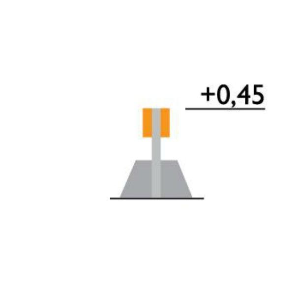 Parkeringsräcken | Parkeringsräcke dubbelt fristående med betongfot